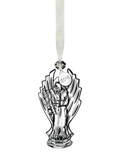 Waterford 2018 Annual Angel Playing Harp Crystal Christmas Tree Ornament New