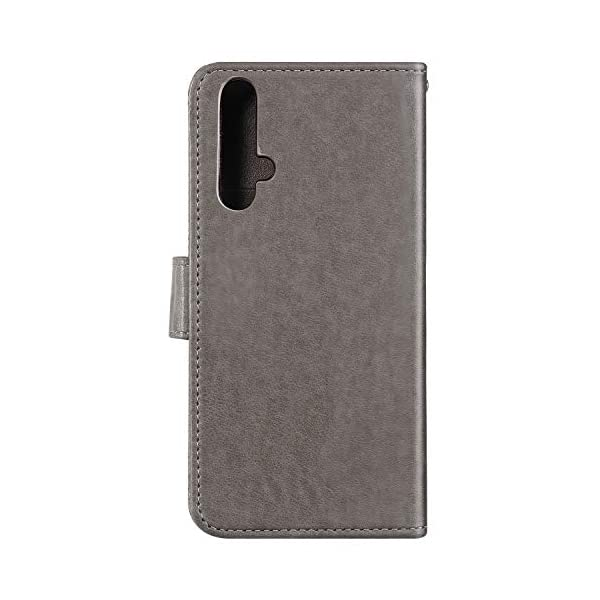 Uposao Compatible with Huawei Honor 20 Case Leather Wallet Cover Cherry Flower Cat Embossed Pattern Shockproof Flip Case with Card Holders Magnetic Closure Stand Lanyard,Gray Uposao Compatible Model: Huawei Honor 20 Package:1 x Wallet Case Cover,1 x Black Stylus Touch Pen Provides optimal protection from everyday bumps, knocks, drops, chips, dirt, scratches and marks without adding bulk to your phone and ensures that your device remains protected, safe and secured at all times. 2