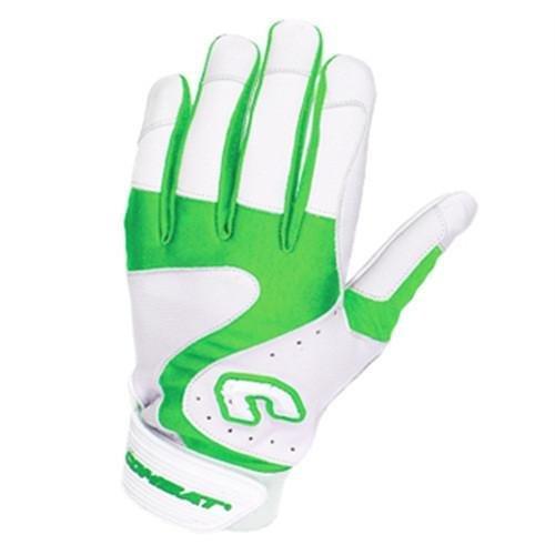 Combat Premium G3 Baseball- und Softball-Handschuhe für Erwachsene, Weiß/Limettengrün, Herren, White Lime, XX-Large -