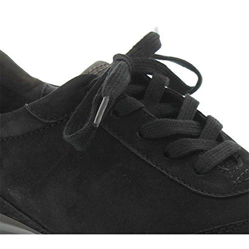 Gabor comfort rollingsoft, chaussures basses, oil 36. 965–47 nubuk Noir - Noir