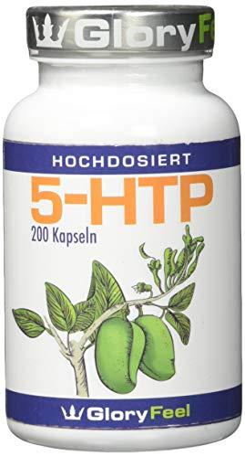 GloryFeel® 5-HTP Kapseln - 200mg Original Griffonia Extrakt - 5HTP aus Griffonia Simplicifolia Samen - Laborgeprüft und Hergestellt in Deutschland