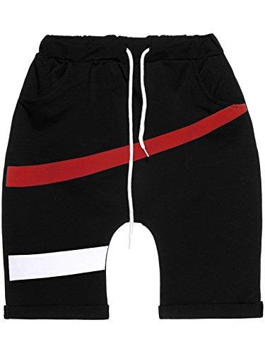 BEZLIT Jungen Kinder Capri Shorts Kurze Hose Baggy Made in Italy 22650 Schwarz Größe 116