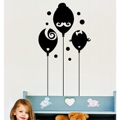 Ambiance-Live Sticker Mural Ballons drôle de famille - 65 x