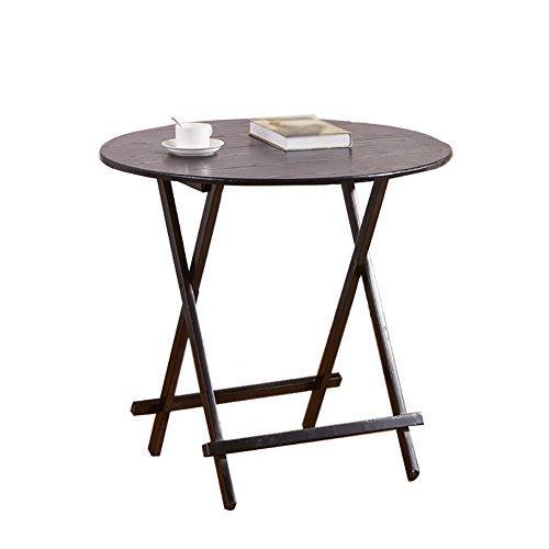 Klapptisch Runder Tisch Kleiner Familientisch, 4 Personen, Outdoor Portable, Study Ein Kleiner Schreibtisch, Multi-Use und werkzeuglose Montage (Größe : 60cm)