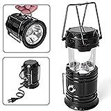 LED Solar Emergency Light Bulb (Lantern) - Travel Camping Lantern - Black + Free 1 Memory Card Reader