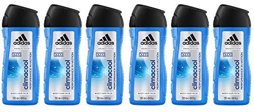 adidas climacool 3in1 Duschgel für Herren - langanhaltendes Frischegefühl und wohltuhendes Duscherlebnis, 6er Pack (6 x 250 ml)