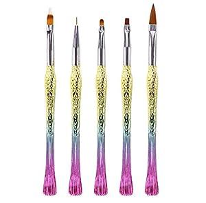 Mio.oo Nail False Tips Builder Brush Pen Tool (5PCS)