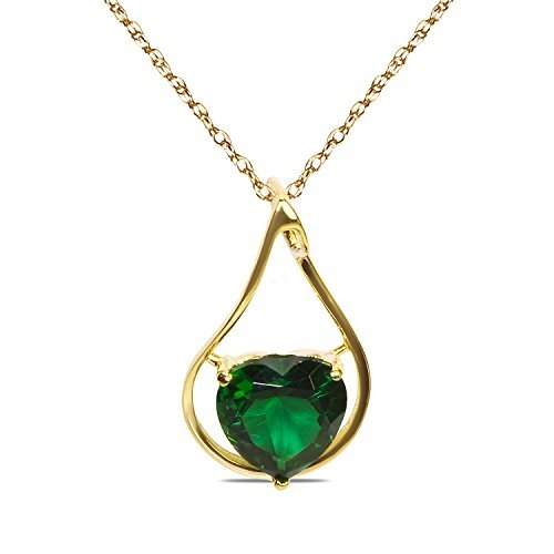 created-emerald-heart-in-10k-yellow-gold-pendant-with-complimentary-18-chain-by-nissoni-jewelry