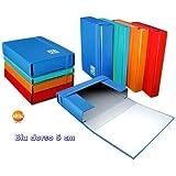 Blasetti One Color Cartón plastificado Azul - Carpeta (Cartón plastificado, Azul, A4, 5 cm, 250 mm, 360 mm)