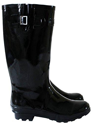 Whalewyreunion Footwear Mädchen amp;h Black Arbeits gummistiefel A shiney Damen Jack FEqxFwA