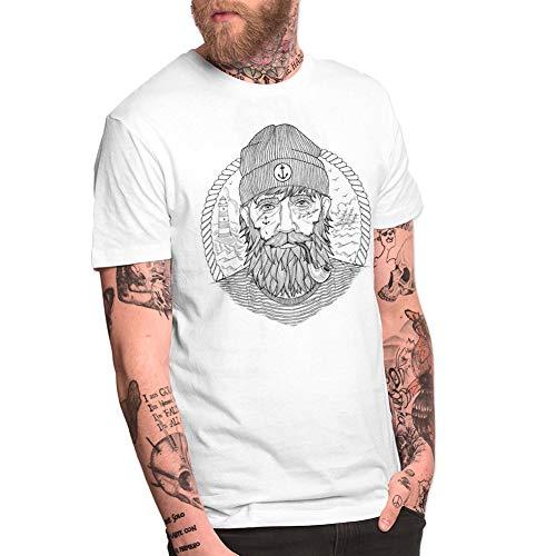 VIENTO Real Captain Herren T-Shirt (M, Weiß)