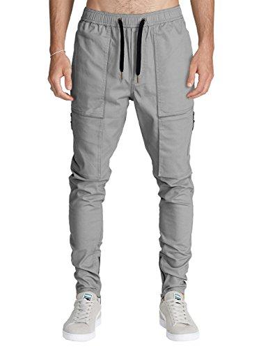 ITALY MORN Pantalón para Hombre Cargo Slim Jogging Casual Algodón Negro 12 Colores SYT3v7yQdU