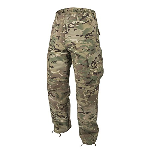 Button-fly Flap Pocket Jeans (Helikon-Tex ACU Hose Trousers Uniform -Polycotton Ripstop- Camogrom)