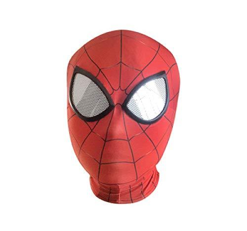 POIUYT Spider-Man Gesichtsmaske Halloween Kostüm Party Tuch Party Maske Kapuze Für Rollenspiel Kostüm A One Size Maske Unisex Kopfbedeckung Cosplay Halloween Maske Helm Requisiten Filme,Red1Adult