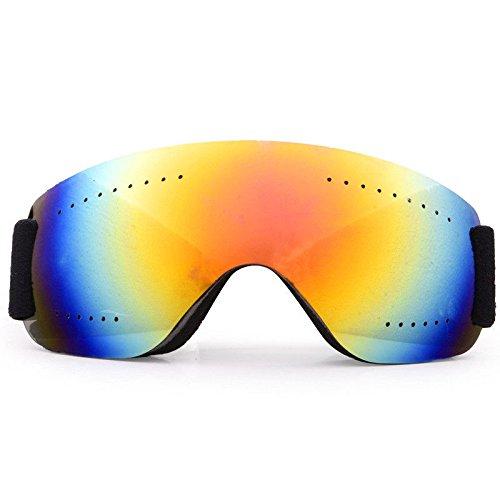 Meijunter New Frameless Masques et Lunettes de Ski Lunettes Equitation Coupe-Vent Lunettes de Moto Goggles Eyewear pour Homme et Femme