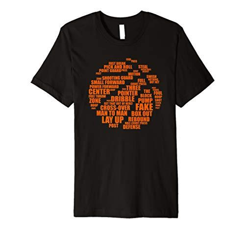BASKETBALL Inspirierende Basketball Word Cloud Shirt