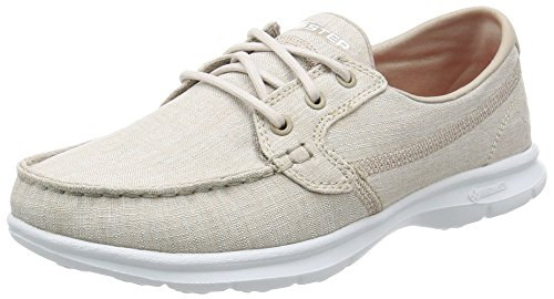 Go Step-riptide Skechers, Taupe Chaussures Bateau Femme