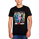 Big Bang Theory Maglietta da Uomo Character Collage Elven Forest Cotton Black - S