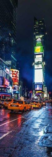 empireposter - New York - Times Square HDR - Größe (cm), ca. 53x158 - Türposter, NEU -