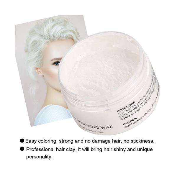 Cera para teñir el cabello, unisex desechable de varios colores modelado temporal moda bricolaje arcilla del color del…