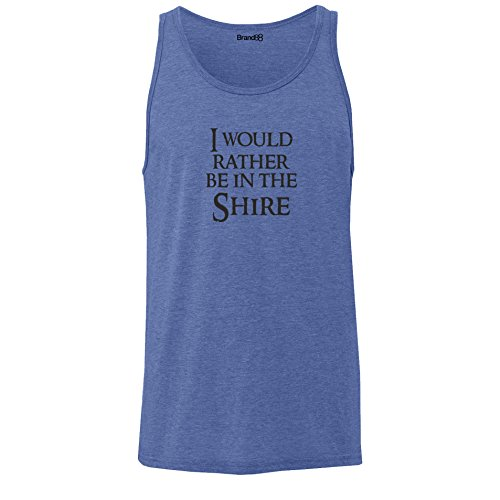 Brand88 - I Would Rather Be In The Shire, Unisex Jersey Weste Blau Meliert