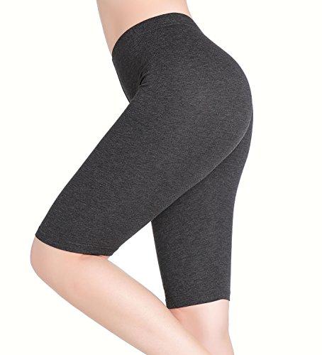 Damen Knielange Leggins Leicht Kurze Hose Unter Rock Leggings - Elastisch Dünn