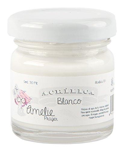 Amelie Prager AMA-01 Pintura Acrílica, Blanco, 30 ml