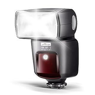 mecablitz 44 AF-2 für Sony Kameras (DSLR und CSC)   Blitzgerät mit ADI-TTL, Leitzahl 44, HSS (High Speed Sync), Hochleistungs-LED
