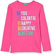 United Colors of Benetton T-Shirt M/L Camiseta de Manga Larga para Niñas