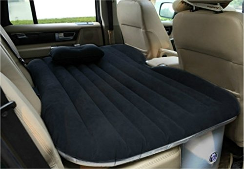 Drive Travel Heavy Duty Car Travel Inflatable Mattress Car Inflatable Bed SUV Back Seat Extended Mattress (Black)