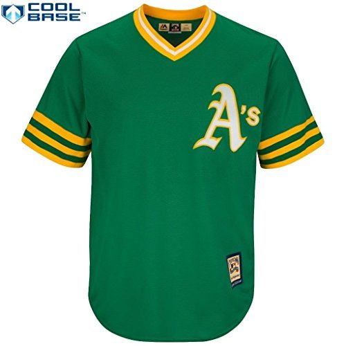 Majestic Oakland Athletics A's MLB Cool Base Cooperstown Pullover Trikot (3XT, Oakland Athletics A) -
