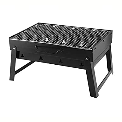 TREEMEN BBQ Grills Picknickgrill?Portable Barbecue Grill Holzkohlegrill Campinggrill Picknickgrill Für Garten Camping Park Festivals Party for 2-6 Personen