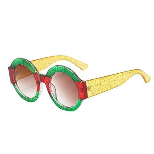 Dragon868 Unisex Sonnenbrille Big Frame Runde Form Rapper Sonnenbrille Vintage Retro Brillen Brillen (D) (Brillen Ysl)
