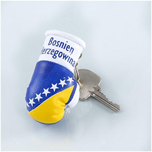 Schlüsselanhänger / Anhänger für Schlüssel - BOSNIEN HERZEGOWINA - Boxhandschuh mit Schlüsselring, 7 cm groß
