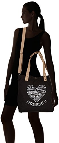 Adelheid 11240154017, Borsa shopper Donna Nero (Graphit)