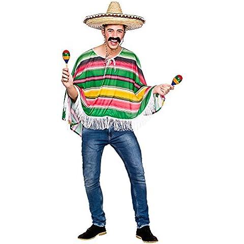 Adultos mexicano Bandit Poncho disfraz de Halloween disfraz nuevo