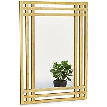 elbm bel 32x27x3cm rechteckiger wand spiegel klein handgefertigter vintage antik rahmen aus. Black Bedroom Furniture Sets. Home Design Ideas
