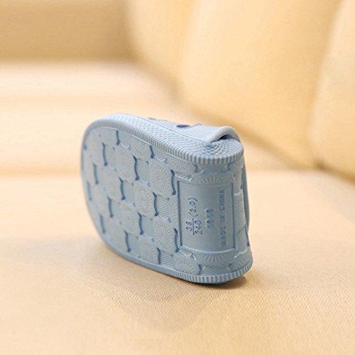 Qianle Unisex Badeschuhe Anti-Rutsch Badezimmer Dusch & Badeschuhe Sommer Hausschuhe Blau-36