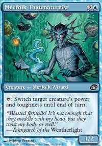 magic-the-gathering-merfolk-thaumaturgist-tritone-taumaturgo-planar-chaos-foil