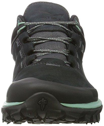 Salewa Wander Hiker Gore-tex, Chaussures De Randonnée Pour Hommes Noir (black Out / Berly Vert 0499)