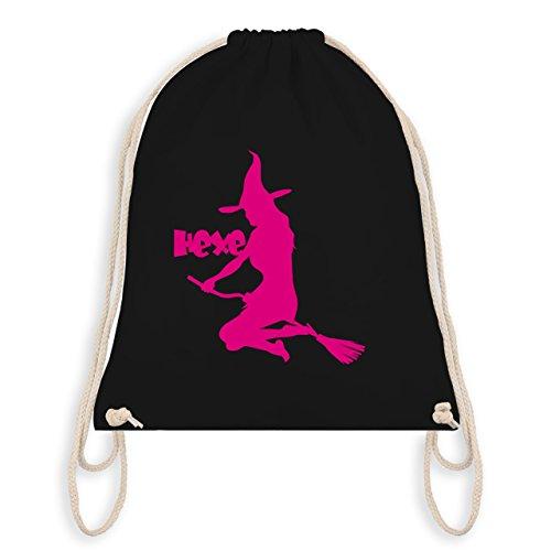 dem Besen - Unisize - Schwarz - WM110 - Turnbeutel I Gym Bag (Mädchen Magische Hexe Kostüme)