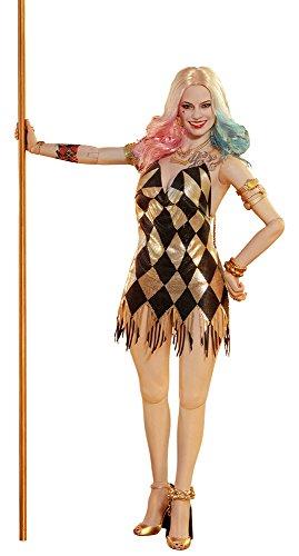 Kostüm Joker Der Weibliche - Hot Toys HT903185 Harley Quinn-Tänzer-Kleid Version, Multi