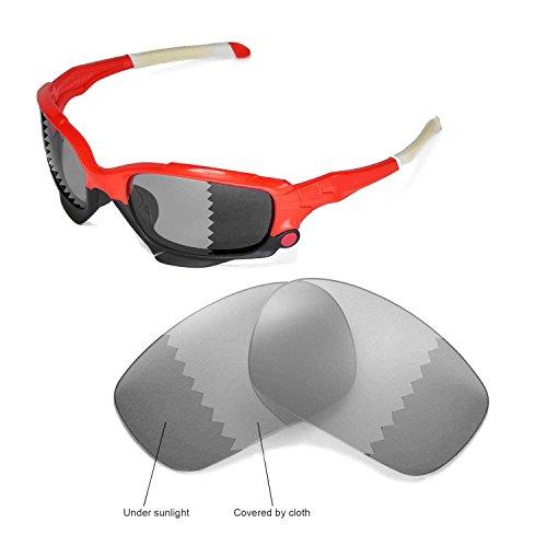 Walleva Ersatzgläser für Oakley Jawbone Sonnenbrille -Mehrfache Optionen (übergang/photochrom - Polarisiert)