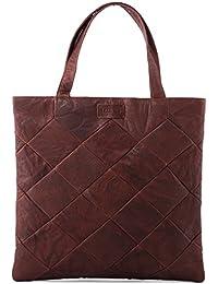 LEABAGS Chiba sac à main rétro-vintage en véritable cuir de buffle