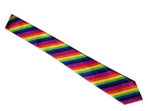 Preisvergleich Produktbild Unisex Leuchtend Skinny Regenbogen Gestreift Fashion Kostüm Krawatte