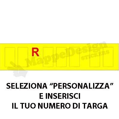 lettere per targa ripetitrice - carrelli appendice - rimorch