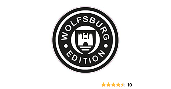 Netspares 119476585 1 X Aufkleber Wolfsburg Edition Autoaufkleber Sticker Tuning Shocker Dub Fun Gag Auto