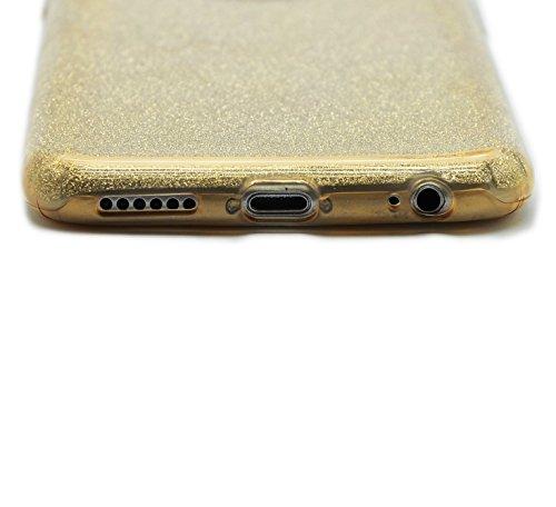 Sunroyal® Custodia iPhone 6 plus Silicone, Case Cover per iPhone 6s plus in TPU Silicone, Ultra sottile Trasparente Morbido Glitter Bling Case Cover iPhone 6 plus / 6S plus 5.5 pollici, Rosa Modello 27