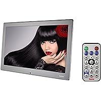 Hama Digitaler Bilderrahmen Slim Steel Full HD (33,8 cm (13,3 Zoll), SD/SDHC/MMC-Kartenslot, USB, 8 GB Speicher, Musik-/Videowiedergabe, mit Fernbedienung) schwarz