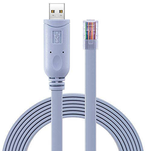 Blizim 6ft / 1.8m USB Konsolen Kabel USB zu RJ45 FTDI RS232 Chip für Router (Wireless-netzwerk-adapter Cisco)